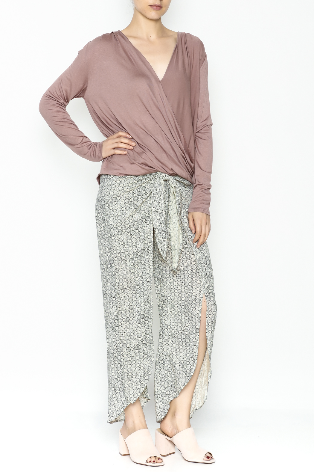 Wasabi + Mint Wrap Blouse - Side Cropped Image