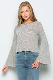 Wasabi + Mint Bell Sleeve Top - Product Mini Image