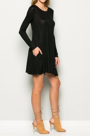 Wasabi + Mint Black A line Dress - Front full body