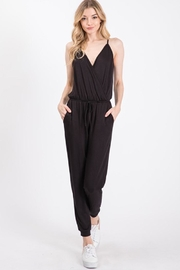 Wasabi + Mint Crossover Jersey Jumpsuit - Product Mini Image