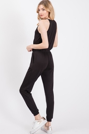 Wasabi + Mint Crossover Jersey Jumpsuit - Front full body