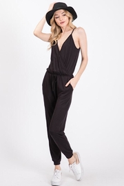 Wasabi + Mint Crossover Jumpsuit With Pockets - Product Mini Image