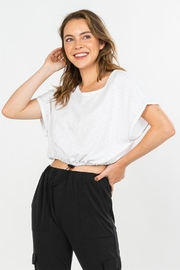 Wasabi + Mint Drawstring Crop Top - Product Mini Image