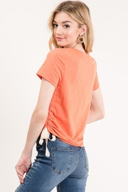 Wasabi + Mint Drawstring Side Tee - Front full body