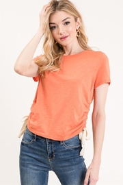 Wasabi + Mint Drawstring Side Tee - Front cropped