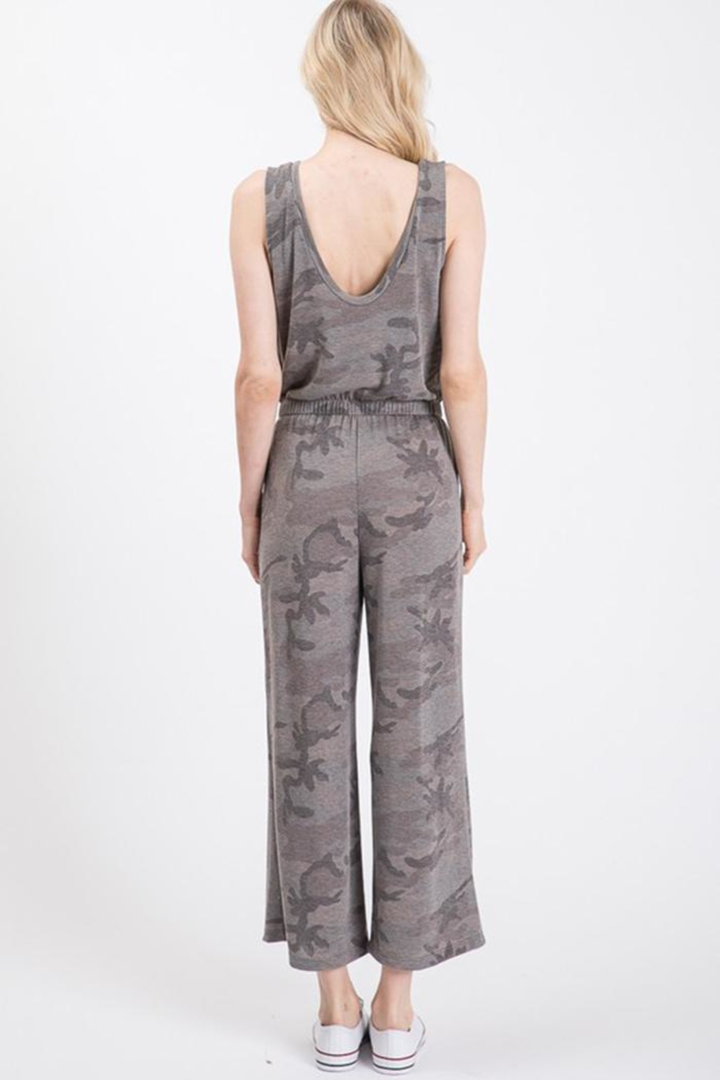 Wasabi + Mint Grey Camo Jumpsuit - Side Cropped Image