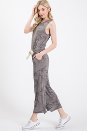 Wasabi + Mint Grey Camo Jumpsuit - Front full body