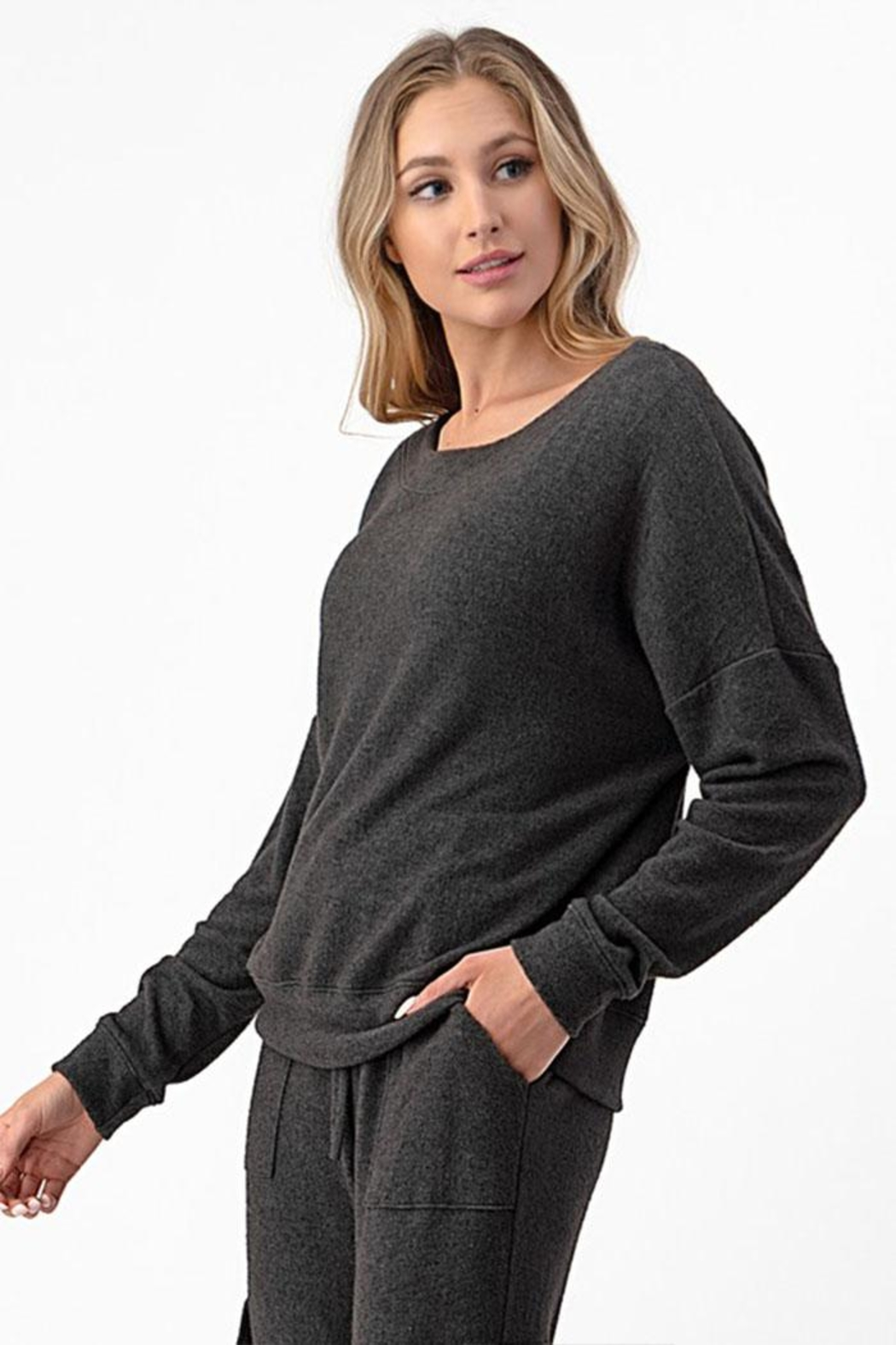 Wasabi + Mint Pullover Sweater Top - Front Full Image