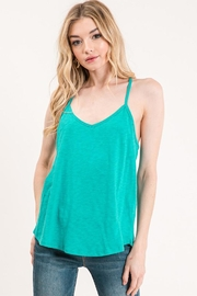 Wasabi + Mint Racerback Tank Top - Product Mini Image
