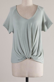 Wasabi + Mint Raglan Knot Tee - Front cropped