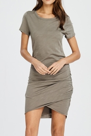 Wasabi + Mint Rouched Shirt Dress - Product Mini Image