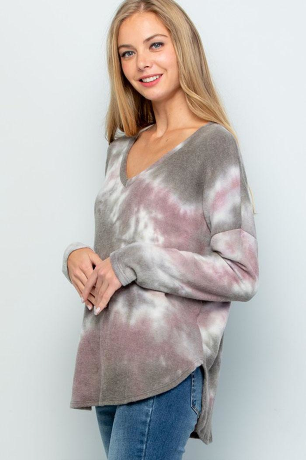 Wasabi + Mint Soft Tiedye Sweater - Front Full Image