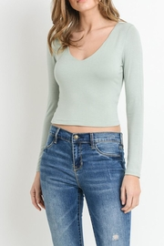 Wasabi + Mint Solid Crop Top - Product Mini Image