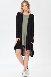 Wasabi + Mint Solid Long Cardigan - Front cropped