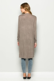Wasabi + Mint Solid Long Cardigan - Front full body