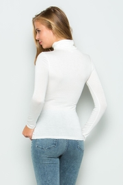 Wasabi + Mint White Turtle Neck Sweater - Front full body