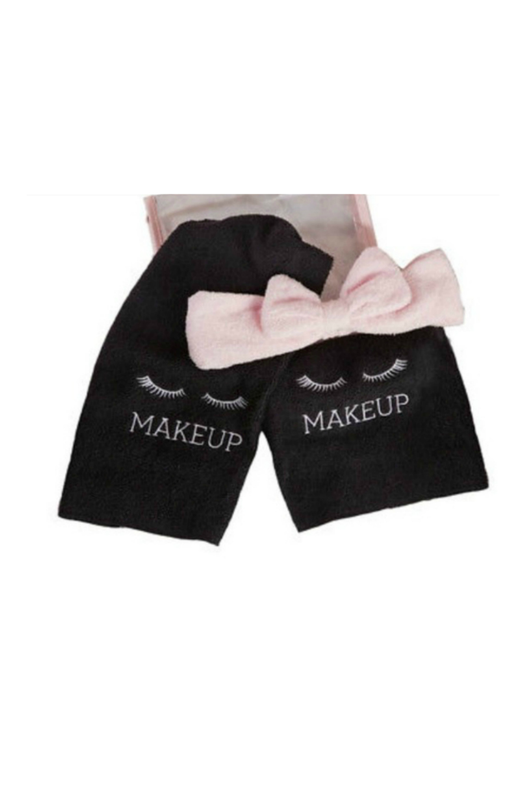 Two's Company Wash Away Makeup towels and headband - Main Image
