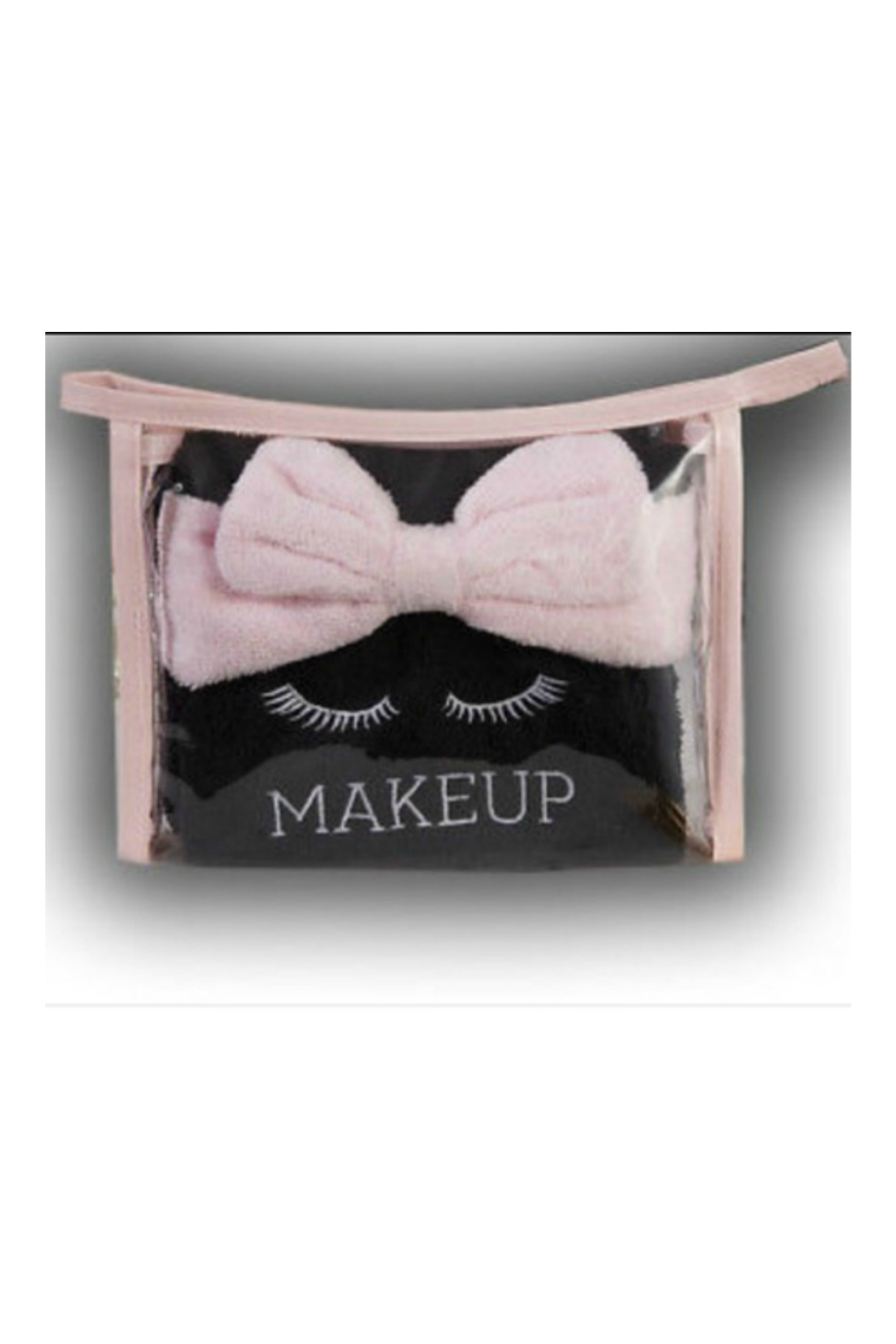 Two's Company Wash Away Makeup towels and headband - Front Full Image