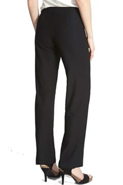 Eileen Fisher WASHABLE STRETCH CREPE SLIM PANT Black - Alternate List Image