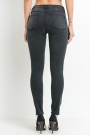 just black Washed-Black Distressed Jeans - Product Mini Image