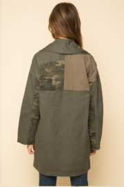 Mystree Washed Camo Patchwork Jacket - Other