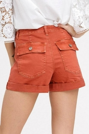 Listicle Washed Cargo Shorts - Front full body