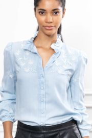 The Shirt Rochelle Behrens  Washed Denim Shirt - Product Mini Image