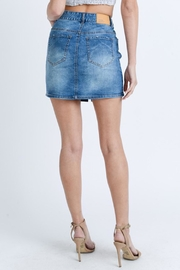 Love Tree Washed Denim Skirt - Side cropped