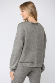 Fate Washed French Terry Sweatshirt - Front full body