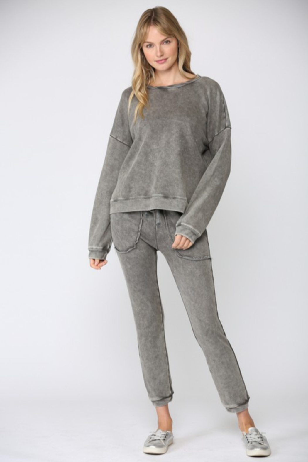 Fate Washed French Terry Sweatshirt - Side Cropped Image