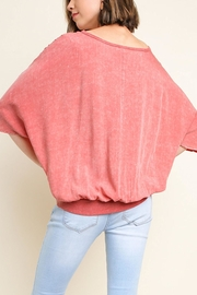 Umgee USA Washed Gathered Top - Side cropped