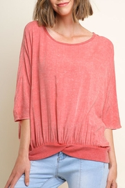 Umgee USA Washed Gathered Top - Front cropped