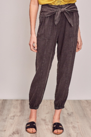 Mustard Seed  Washed Jogger with Waist tie - Product Mini Image