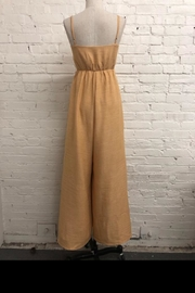 Just Me Washed Linen Jumpsuit - Front full body