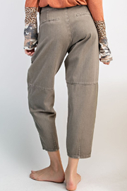 easel  Washed Mom Twill Pant - Side cropped