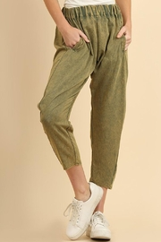 Umgee USA Washed Olive Pant - Product Mini Image