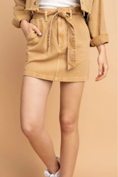 Le Lis Washed-Out Denim Skirt - Product List Image