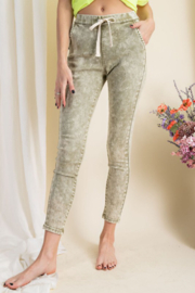 easel  Washed Out Skinny Jeans - Product Mini Image