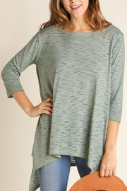Umgee USA Washed Sharkbite Tunic - Front cropped