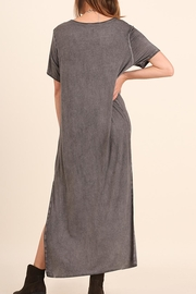 Umgee USA Washed Tee Dress - Front full body