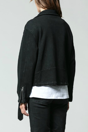 FATE  Washed Terry Moto Jacket - Side cropped