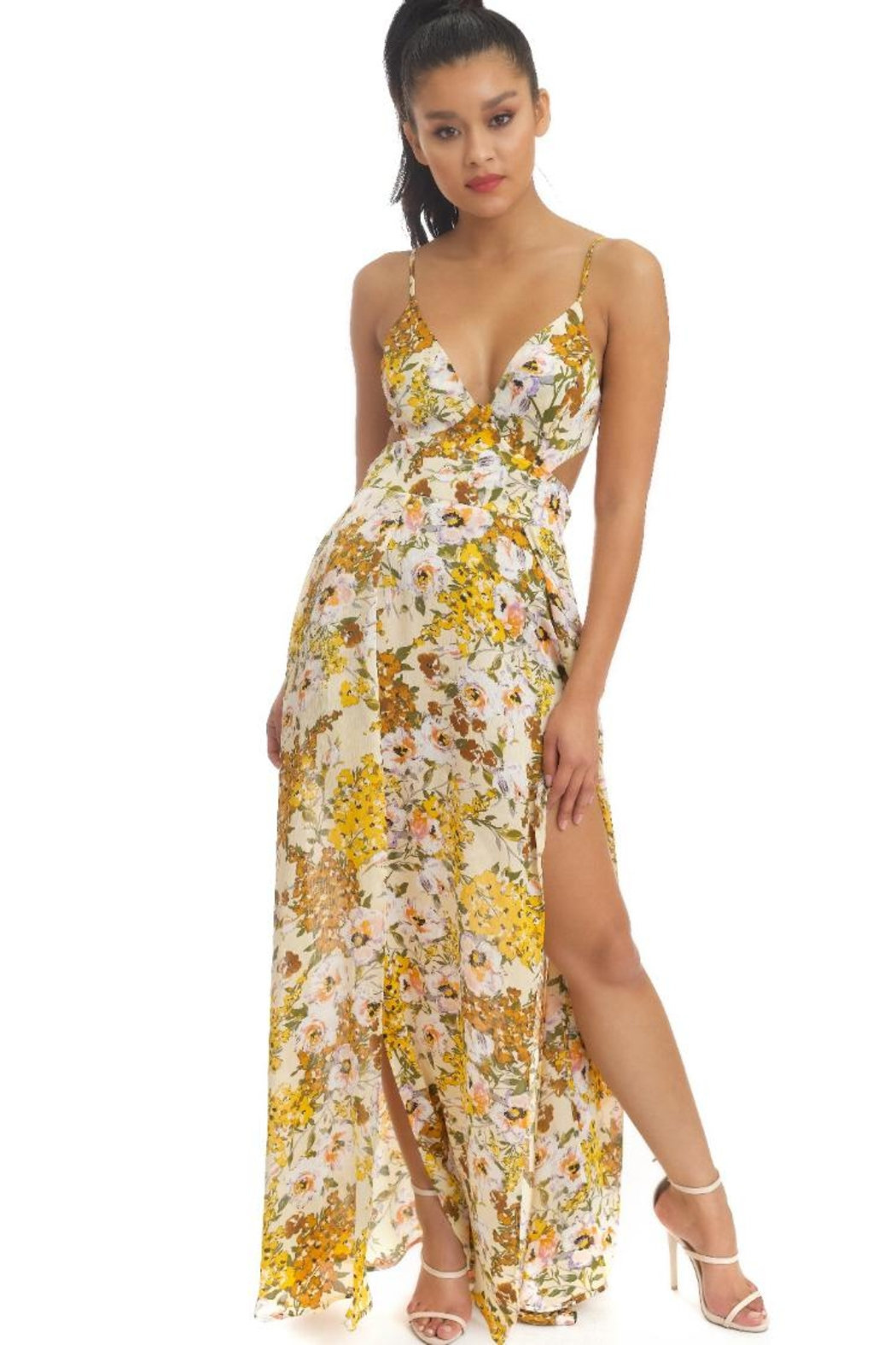 luxxel Water Florals Maxi-Dress - Main Image