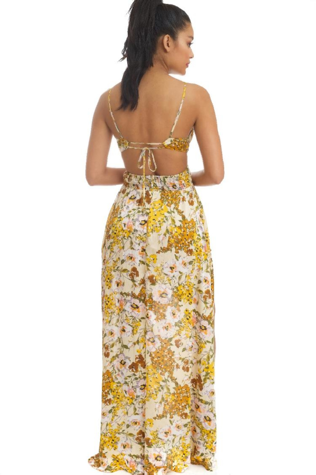 luxxel Water Florals Maxi-Dress - Front Full Image
