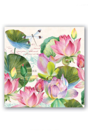 Michel Design Works Water Lilies Cocktail Napkins - Product Mini Image