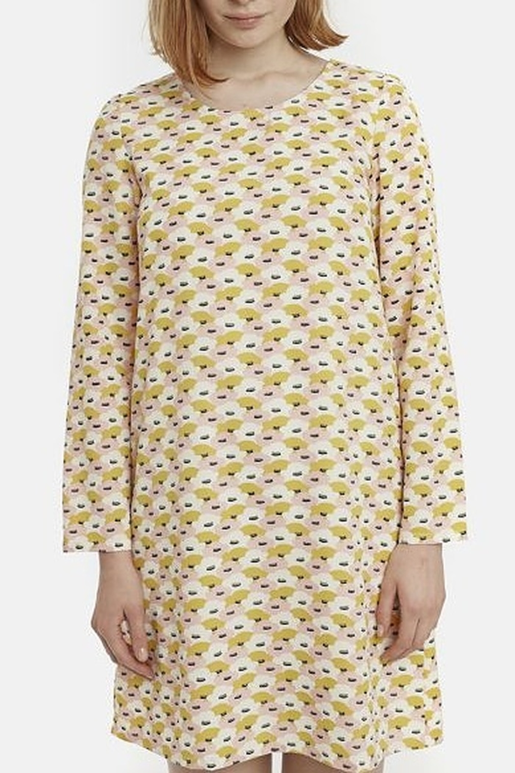 Compania Fantastica Water Lily Smock Dress - Back Cropped Image