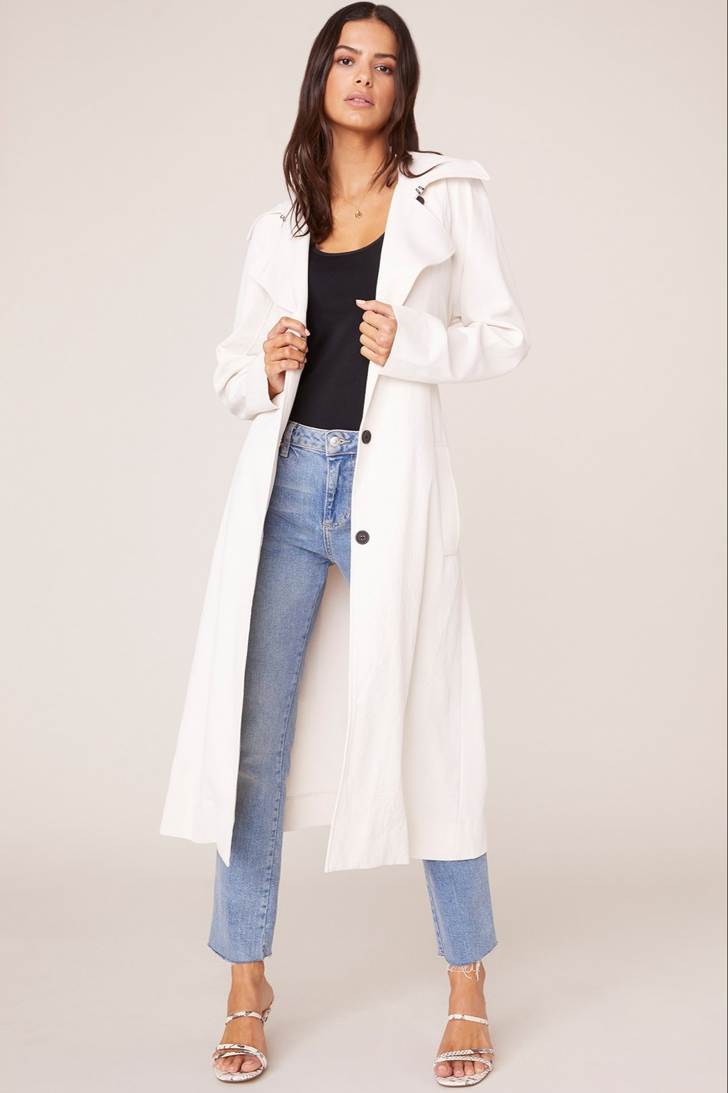 BB Dakota Water Resistant Trench Coat - Side Cropped Image