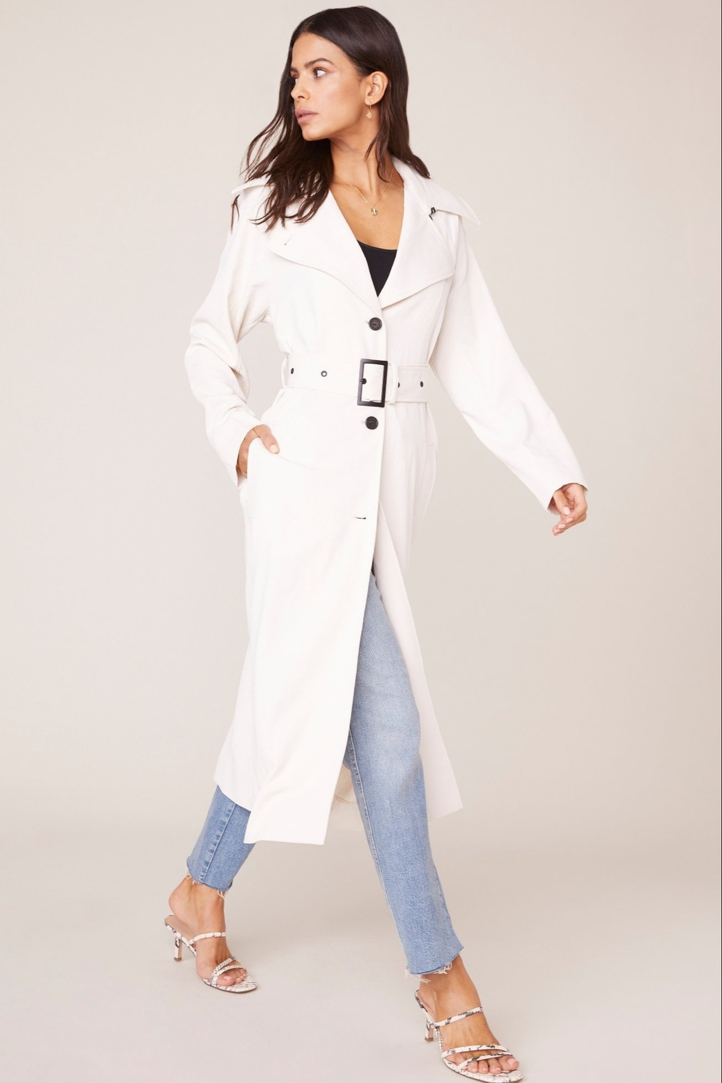 BB Dakota Water Resistant Trench Coat - Front Cropped Image