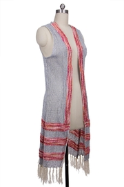 Saachi Water Vest with Fringe - Back cropped
