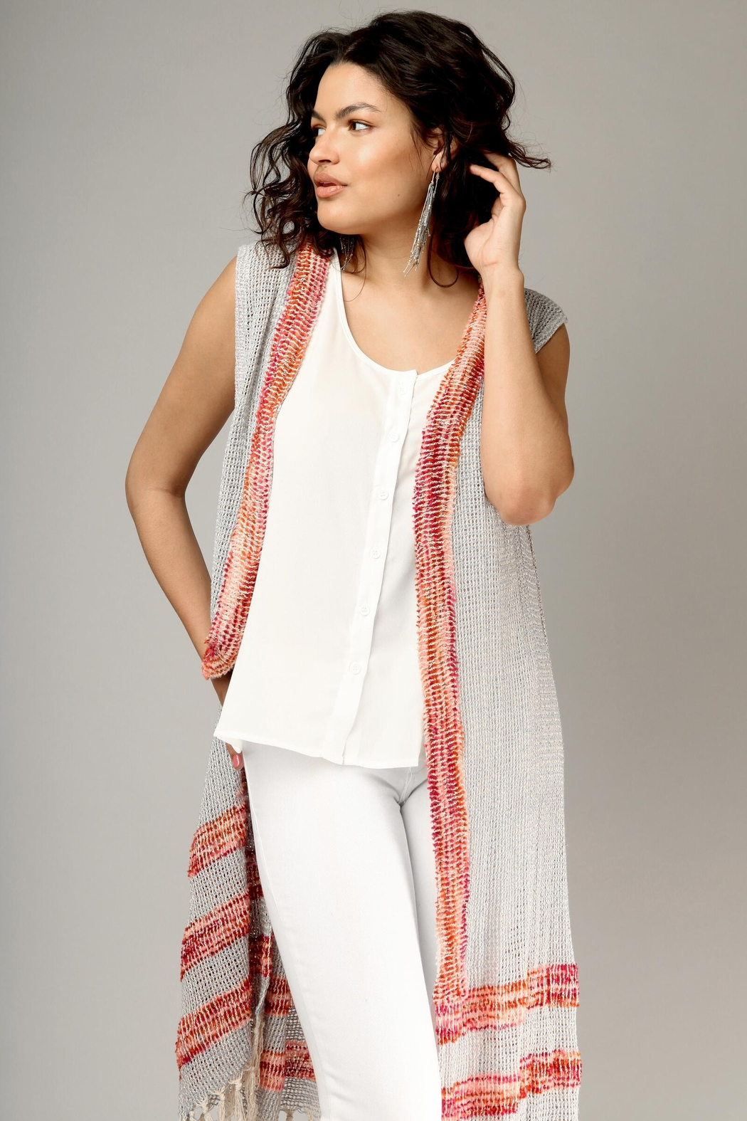 Saachi Water Vest with Fringe - Front Cropped Image