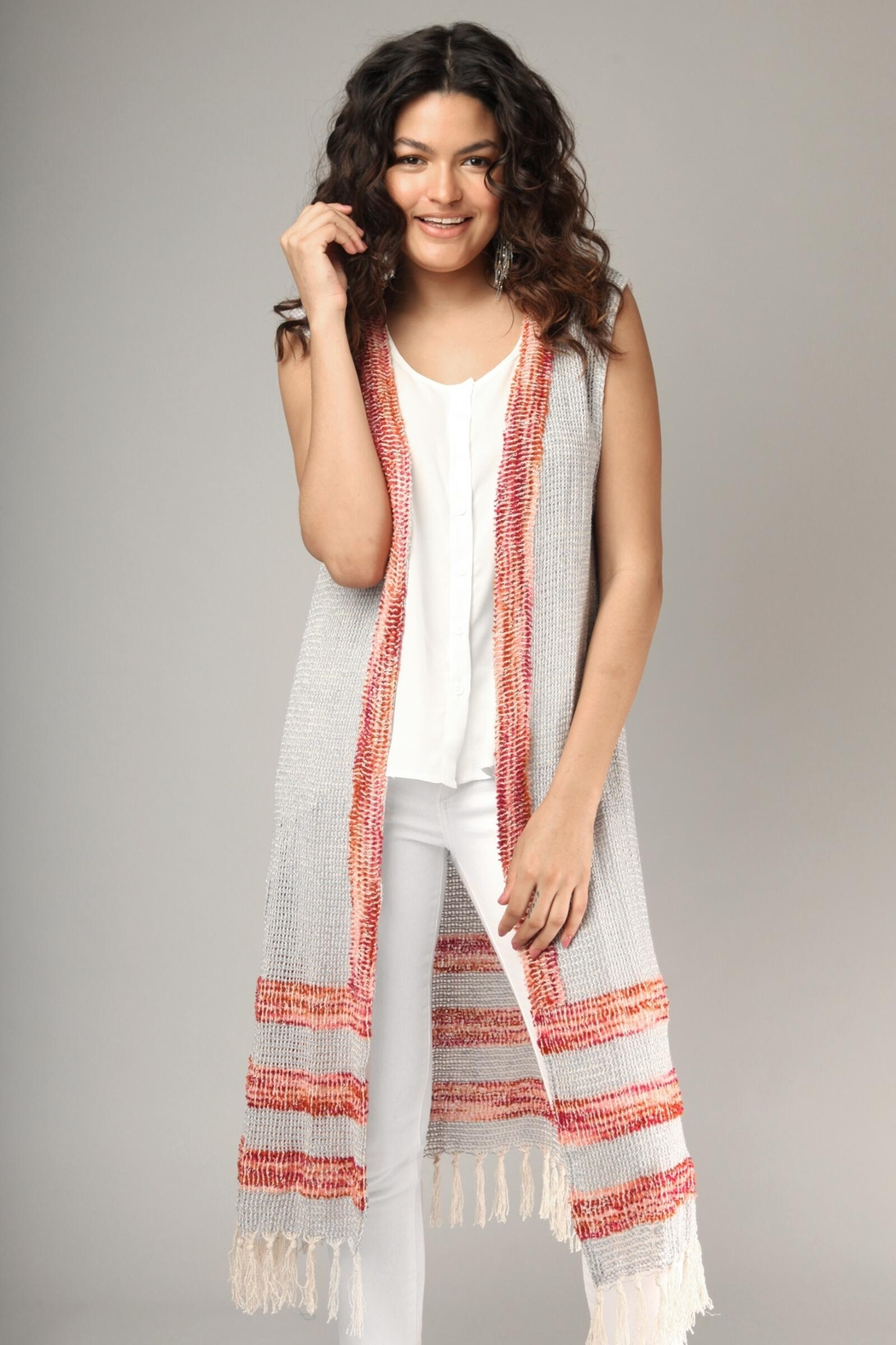 Saachi Water Vest with Fringe - Front Full Image